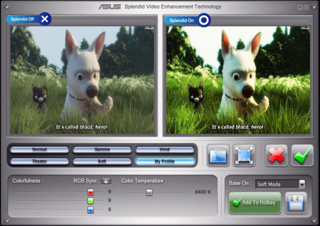 Asus Splendid Video Enhancement Technology