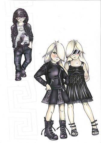 Young Versace, bocetos de diseño para los más pequeños