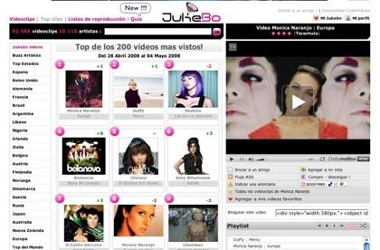 Jukebo, busca y encuentra tu videoclip musical favorito