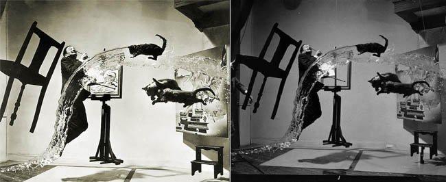 Dalí Atomicus retocada y original