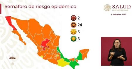 Casi todo México se pinta de naranja en el semáforo de COVID: mientras, ya hay tres estados en verde