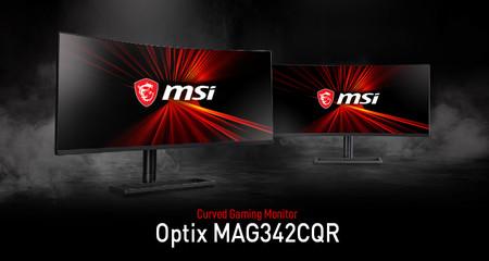 MSI presentará en el CES 2020 el monitor Optix MAG342CQR: el primero con curvatura 1000R y 100 Hz