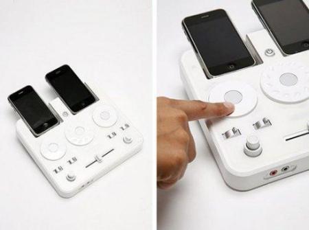UO DJ Mixer, pequeña mesa de mezclas para iPod e iPhone