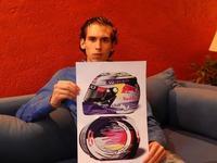 ¡Viva México, ca…nijos! Un mexicano diseñó el nuevo casco para Sebastian Vettel