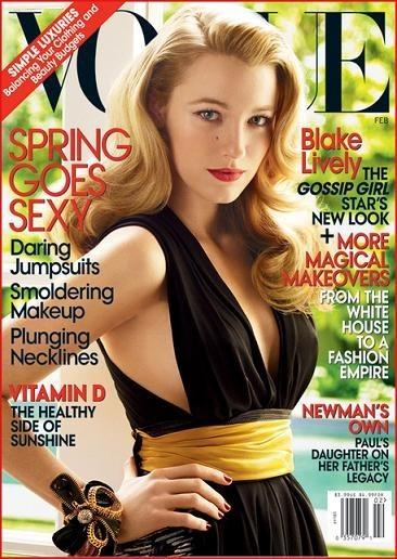Blake Lively portada de Vogue USA febrero 2009