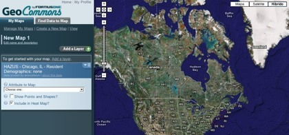 Geo Commons, creación de mapas personalizados