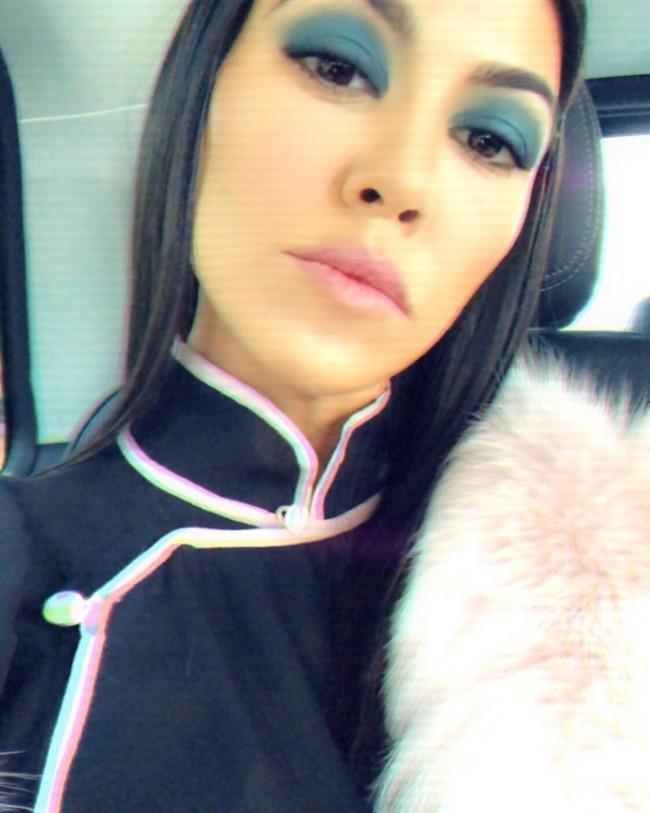Kourtney Kardashian Sombras Azules