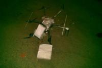 Los narcos se modernizan, cae dron que transportaba droga