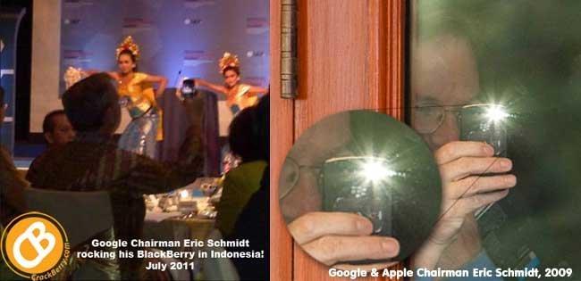 Eric Schmidt y su BlackBerry, inseparables desde 2009