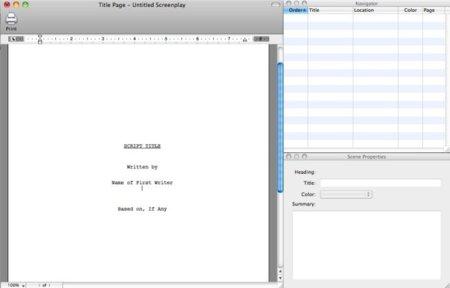 Final Draft, aplicación para la creación de escenas, guiones, series de televisión,...