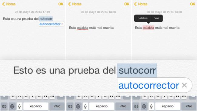Autocorrector iOS 7