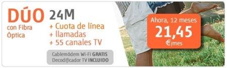 Euskaltel aumenta de 2 a 5 Mbps la tarifa más barata por 3 euros más cada mes