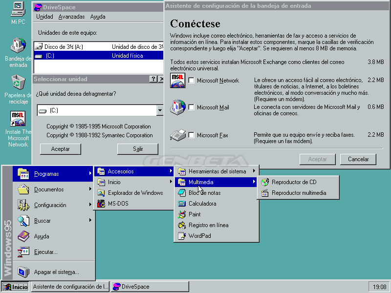 Foto de Windows 95 y su escritorio (2/5)