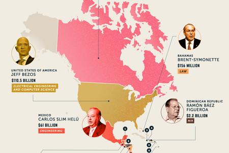 Lo que estudiaron las personas más ricas de cada país del mundo, explicado en estos mapas