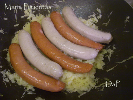 Salchichas con Choucrout