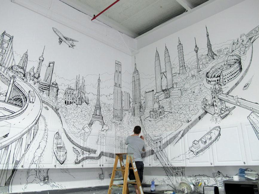 Foto de Global City, un gran mural con la ciudad de ciudades (3/7)