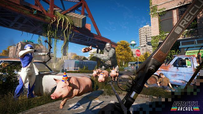 Far Cry Arcade es el loquísimo editor de niveles de Far Cry 5. Y tiene una pinta macanuda