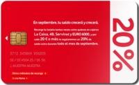Hasta el domingo, 20% de saldo gratis al recargar Vodafone en cajeros