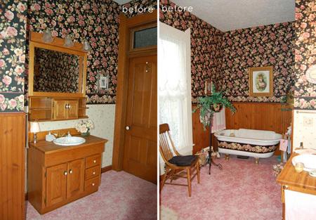 Antes y después: un baño florido y hermoso