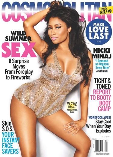 Nicki Minaj, de lo más recatadita en Cosmopolitan: aunque no ha sido así siempre...