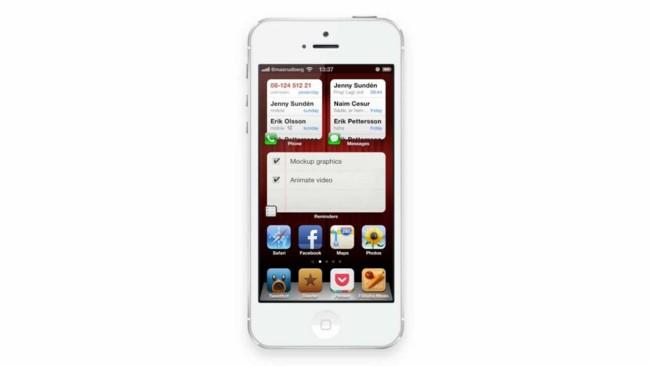 Un concepto nos muestra como Apple podría crear una interfaz para iOS más interactiva