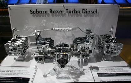 El motor bóxer turbodiesel de Subaru, al desnudo