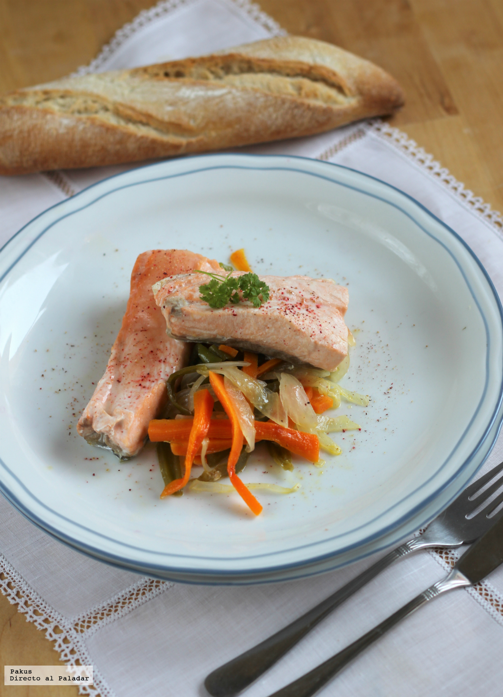 Salm n al horno en papillote - Formas de cocinar salmon ...