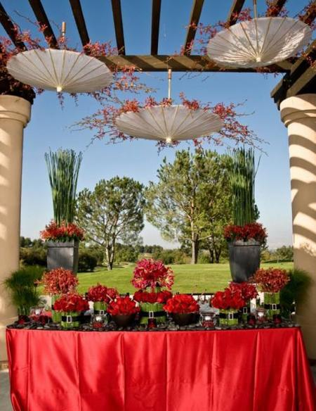 Sombrillas para decorar el exterior