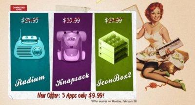 Bundleecious, tres aplicaciones con clase por 9,99 dólares