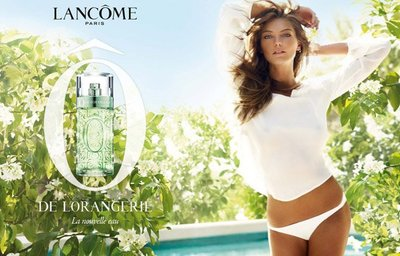 Daria Werbowy imagen de la nueva fragancia Ô de L`Orangerie de Lancôme