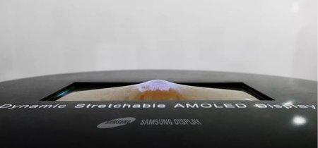 """Esta pantalla OLED """"elástica"""" de Samsung plantea una nueva opción de futuro en wearables"""