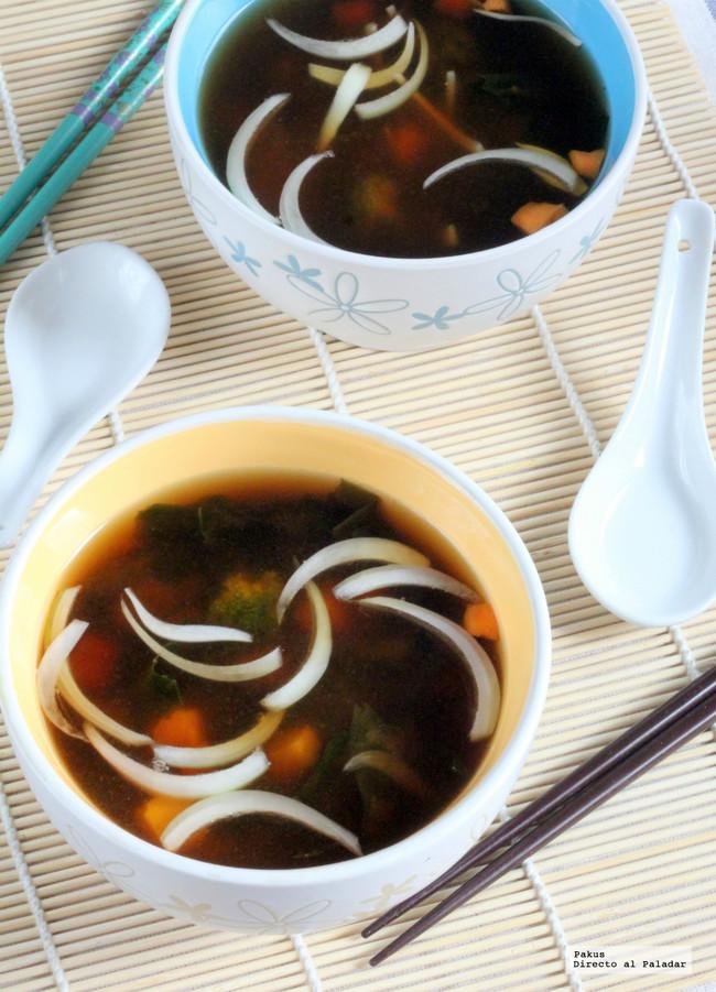 Receta de sopa de miso