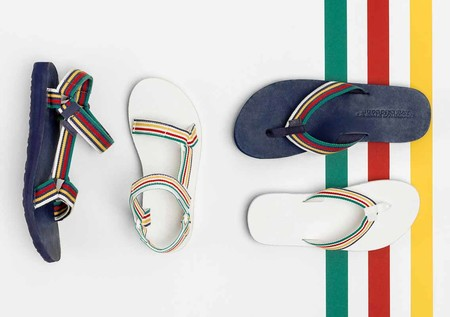 La Clasica Sandalia Teva Se Actualiza Con La Coleccion A Todo Color De Hudson S Bay