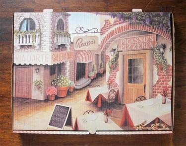 Arte en cajas de pizzas