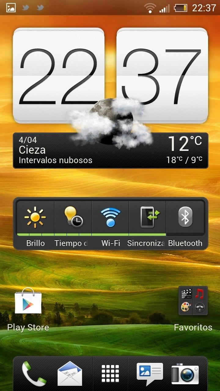 HTC Sense 4.0 ejemplos