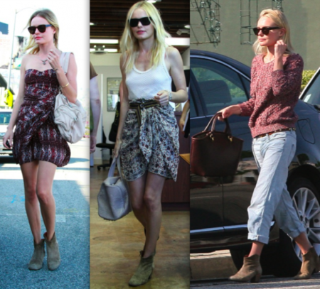 Kate Bosworth botines Isabel Marant