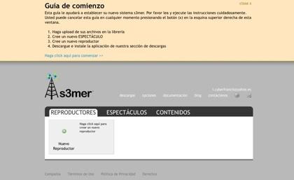 s3mer, creando online presentaciones para reproducir vía streaming