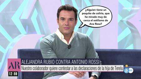 """Antonio Rossi responde a Alejandra Rubio y zanja su parte del culebrón con las Campos: """"estoy aquí para trabajar, no para compadrear con presentadores"""""""