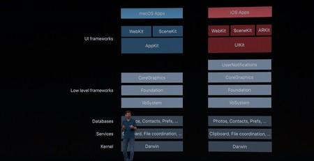 Estructura de los sistemas macOS y iOS