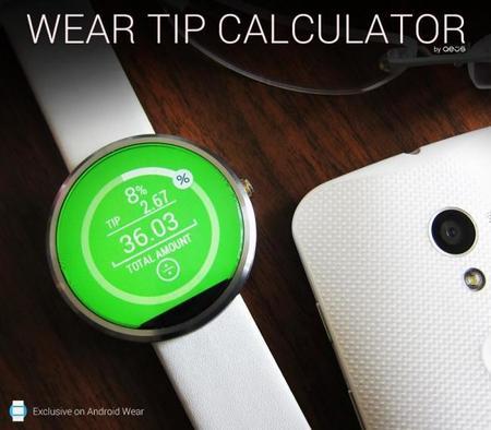 Wear Tip Calculator, una app que aprovecha eficazmente una pantalla circular