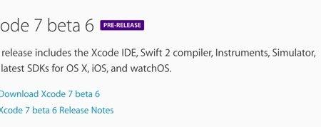Apple libera para los desarrolladores la sexta beta de Xcode 7