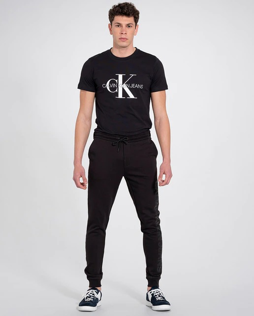 Pantalón de deporte largo de hombre en algodón orgánico negro