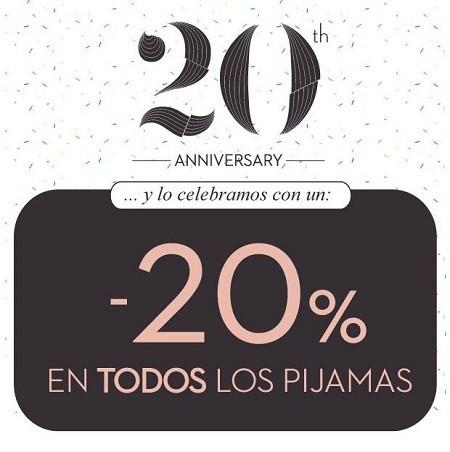 Women'secret celebra sus 20 años con un 20 % de descuento en pijamas, ¡hasta el 17!