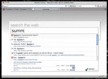 Firefox - Awesome Bar integrada en pestaña nueva