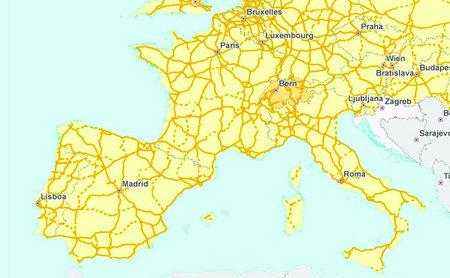 España en la Red Transeuropea de Carreteras