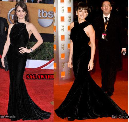 Penélope Cruz ¿repite vestido en los BAFTA?