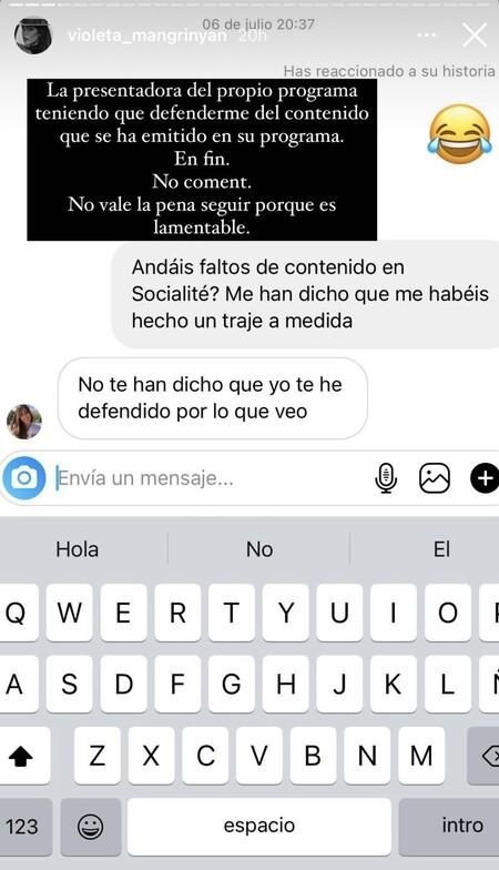 Violeta Mangriñán se enzarza con Nuria Marín