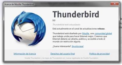 Thunderbird 9 está en la calle