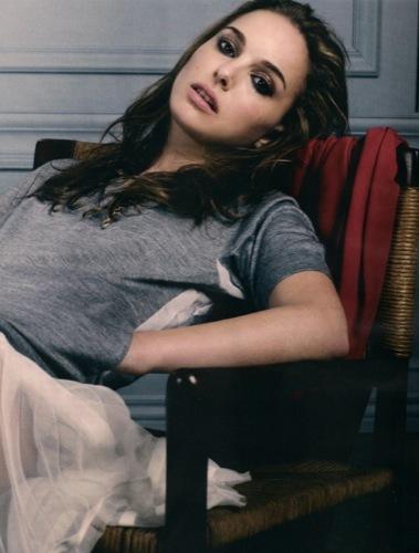 Todas las fotos de Natalie Portman para Elle: el cuento de la princesa romántica, cara