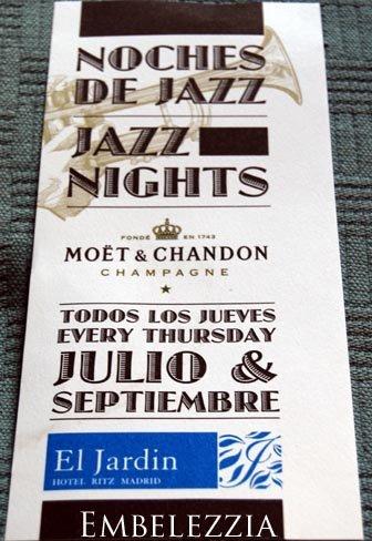 Noches de Jazz en el Hotel Ritz de Madrid